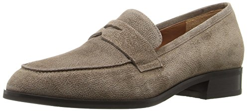 Aquatalia Pebbled Women's Loafer Suede Taupe Sharon On Slip aqzvTaxr