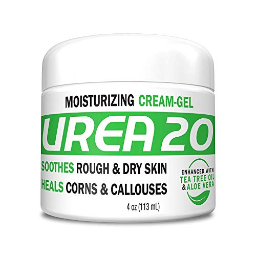 (Urea 20% Percent Cream Gel for Hands, Feet, Elbows and Knees - Corn & Callus Remover - Skin Exfoliator & Moisturizer - Repairs Thick, Callused, Dead and Dry Skin)