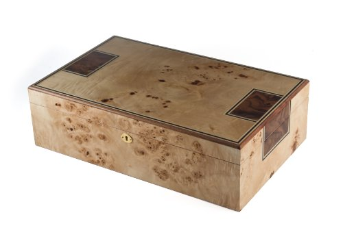 (Orleans Toulouse Humidor with Mapa Burl Finish, 175 Count)