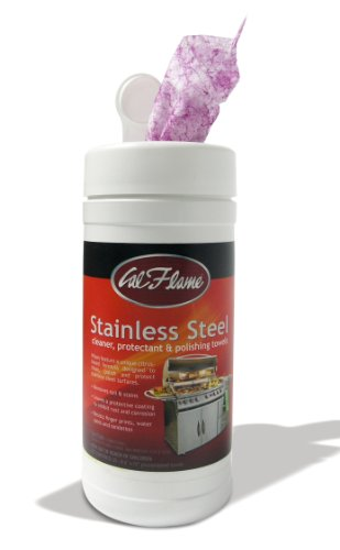 Cal Flame BBQ25000386 Stainless Steel Cleaner and Polish Towels for Grill -
