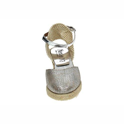 NOELIA 5N50-810, Espadrilles Femme Nickel