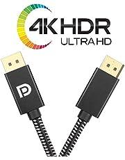 PremiumTech - 2m Kabel DisplayPort 1.4 Kabel Professionelles Nylon [8K 60Hz / 5K 90Hz / 4K 60Hz] HBR3 32,4 GB/s kompatibel mit PC, Laptop, HDTV 3D HDR