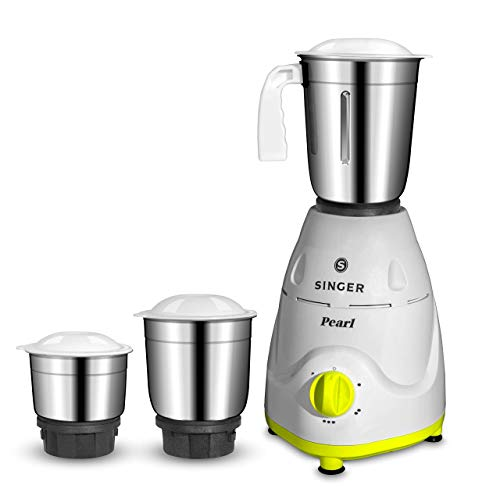 Singer Pearl 500 Watts Mixer Grinder with 3 Jars