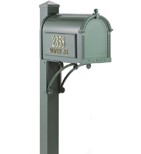 (Whitehall Products 16306 Superior Mailbox Package, French Bronze)