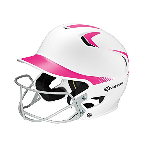 Junior Mask (Easton Junior Z5 2Tone Batters Helmet with SB Mask, White/Pink)