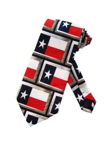 (Steven Harris Mens Texas Lonestar State Necktie - Navy Blue - One Size Neck Tie)