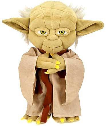 Amazon Com Disney Star Wars 12 Inch Plush Figure Yoda Toys Games