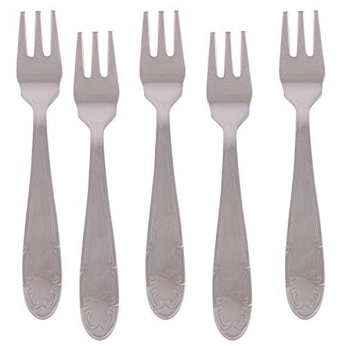 Kishco French Stainless Steel Fruit/Shrimp Fork 6 Piece Set   Pack of 6