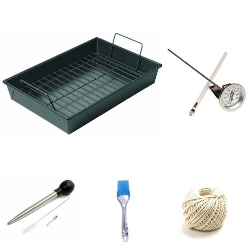 13 by 9 inch Roasting Pan and Accessories Thanksgiving Bundle