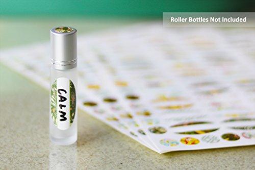 Etiquetas para Botes de Aceite Esencial (108 Etiquetas y 108 para Tapones), Etiquetas Ovaladas Impermeables para Escribir a Mano, para Botes de Aceite ...