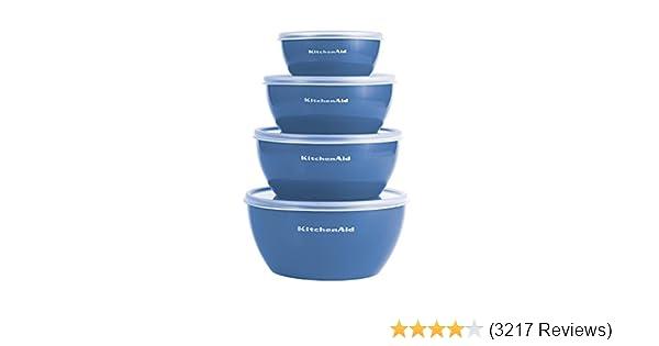 Kitchenaid KC176OSSBA Prep Bowls with Lids, Set of 4, Ocean Blue