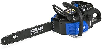 Kobalt 80-volt Lithium Ion 18-in Brushless Cordless Electric Chainsaw
