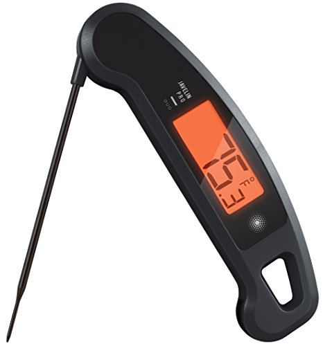 Lavatools Javelin PRO Duo Limited Edition 002 Ambidextrous Backlit Instant Read Digital Meat Thermometer (Stealth Ink)