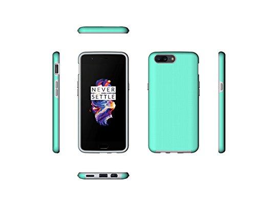 CarcasaOnePlus 5, LifeePro Funda de la Caja del Teléfono a Prueba de Golpes TPU + PC Armadura Combinada híbrida Caso de Alto Impacto Durable Phone Defender (Verde) Verde