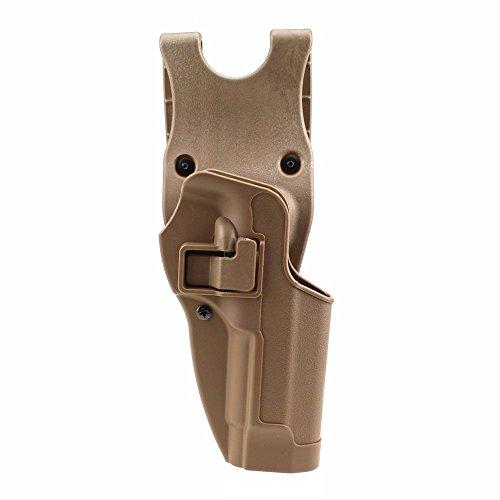 (JINJULI Quick Release Tactical Right Hand Paddle Waist Belt Pistol Holster for Beretta M9 M92 (Tan))