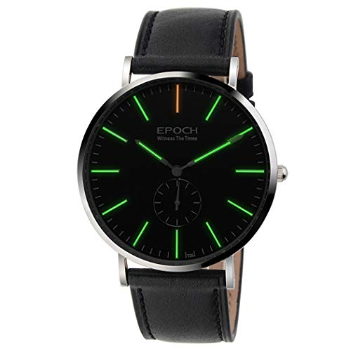 Dress Vougue 50M Waterproof T25 Tritium Luminous Ultrathin Business Men Quartz Watch Wristwatch (P2) - EPOCH 6025G