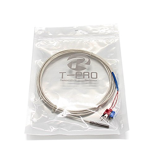 T-PRO RTD PT100 Temperature Sensor Three-wire SystemStainless Steel Probe(430MM) Range:-50-200 (10Feet)