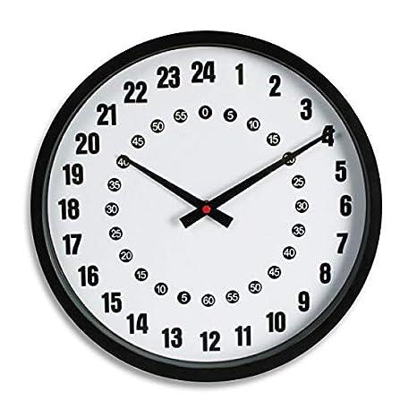 vestibilità classica 4b166 a4e74 orologio da parete analogico 24 ore: Amazon.it: Elettronica