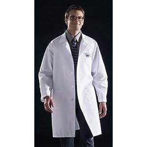 Medline 83044QHWXXXL Unisex Knee Length Lab Coat, 3X-Large, White ...
