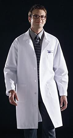Medline 83044QHWXXXL Unisex Knee Length Lab Coat, 3X-Large, White ...