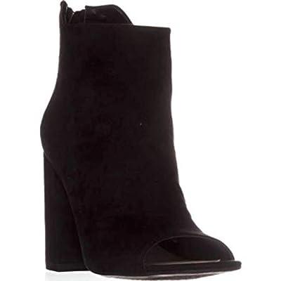 Amazon.com | Bar III Womens Adalyn Faux Suede Open Toe Booties | Shoes