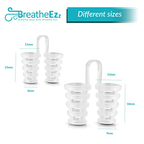 Anti Snoring Solutions, Nasal Dilators, Nose Vent Anti Snoring Device Snore Stopper – Snoring Solution Sleep Aid Device Set of 4 by Breathe Ezz by Breathe Ezz (Image #1)