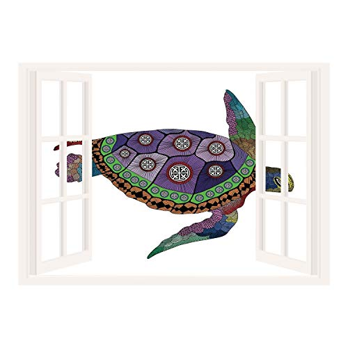 SCOCICI 3D Depth Illusion Vinyl Wall Decal Sticker/Psychedelic