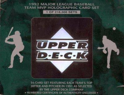 1992 Upper Deck Major League Baseball Team MVP Holographi...