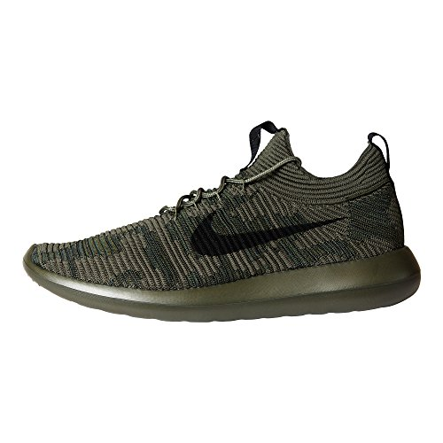 V2 Chaussures Nike Khaki Roshe Flyknit Two black Cargo Homme Baskets xPqq5wr1Y