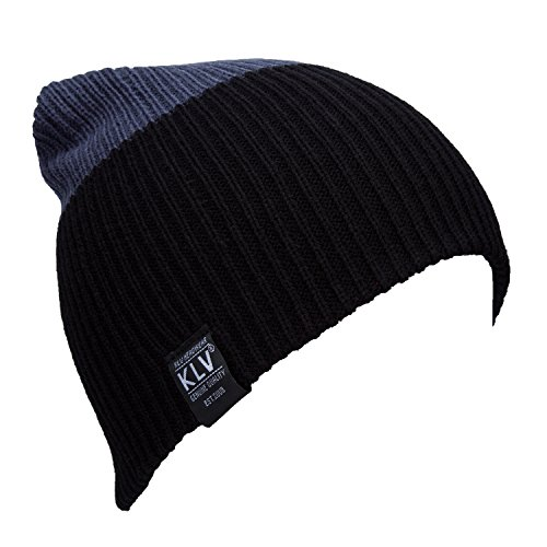 American Crossings Computer (YCHY Unisex Striped Knit Hat Winter Beanie Cap Sport Long Warm Hat (black&grey))