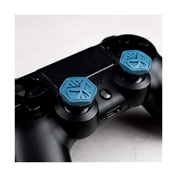 KontrolFreek Call of Duty Modern Warfare Performance Thumbsticks for PlayStation 4 (PS4) | 2 Mid-Rise, Convex | Blue… 6