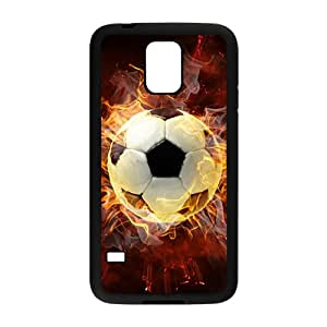 Fire Football High Quality Custom Protective Phone Case Cove For Samsung Galaxy S5