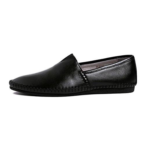 Santimon Vrijetijdsbesteding Elastische Loafers Mocassin Instaprijtuigen Zwart