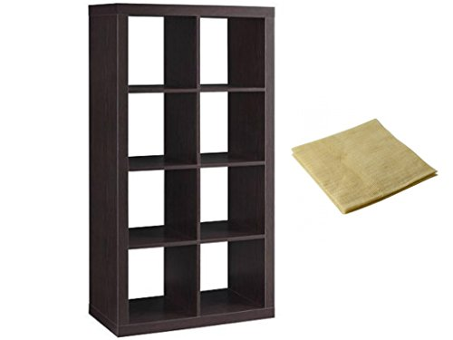Modern Better Homes and Gardens 8-Cube Organizer in Espresso with a Bonus Dust Cloth from Better Homes and Gardens