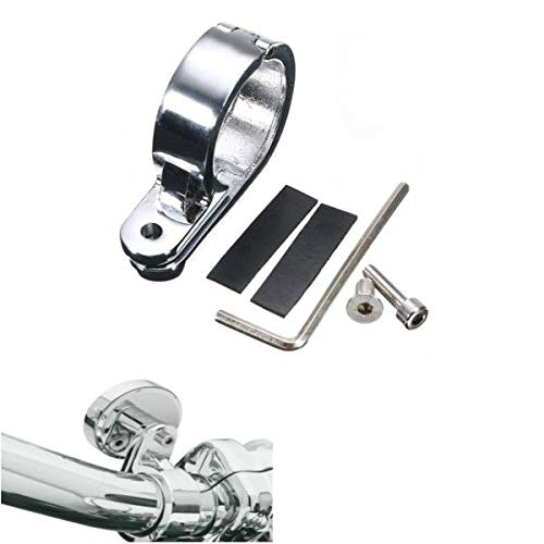 FidgetFidget Clamp 32mm/1.25inches Motorcycle Handlebar Mounts Clock Universal Silver by FidgetFidget