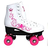 Kingdom GB Vector V2 Quad Wheels Roller Skates, Fuchsia Pink, Size UK 5