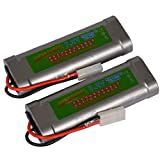 toyofmine 7.2V Rechargeable Batteries and Charger for Rc Racing Car Boat Tank 5000mAh (Charger)