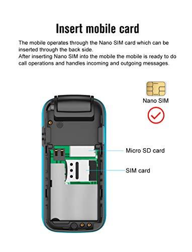 L8star BM60 Mini Flip Mobile Phone SIM+TF Card MP3 FM Radio Magic Voice Changer Bluetooth Dial 3.5 Earphone Jack Music Cellphone (Red)