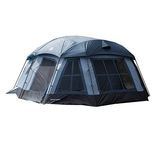 3 Room Camping Tent - Tahoe Gear Ozark TGT-OZARK-16 16 Person 3 Season Large Family Cabin Tent, Blue