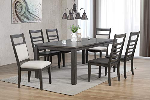 Sunset Trading Shades of Gray Dining Table, Weathered Grey