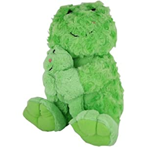 Beverly Hills Teddy Bear Co. Plush Swirl Pet Frog with Baby