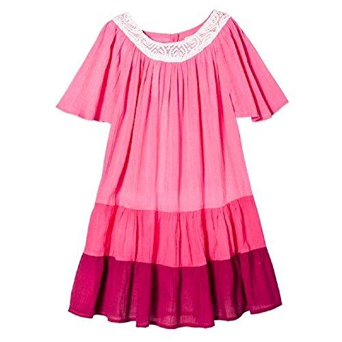 Pink Chicken Happy by Cotton Gauze Dress Pink (7Y)