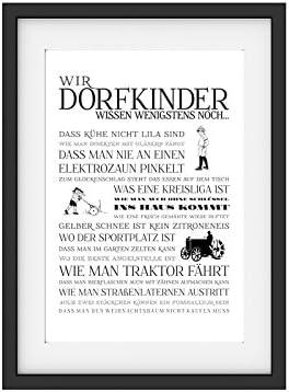 Vintage Druck Poster Kunstdruck WIR DORFKINDER MÄDCHEN Geschenk Bild Print Deko