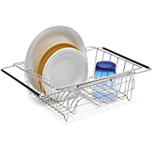 """Polder 6216-75RM In-Sink/Over-Sink Stainless Steel Dish Rack, 13.75"""" x 11.5"""" x 5"""""""