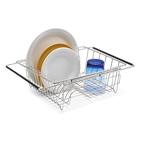 Polder 6216-75RM In-Sink/Over-Sink Stainless Steel Dish Rack, 13.75