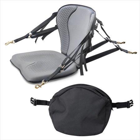 GTS Pro Molded Foam Kayak Seat W/ Zipper Pack, Sit On Top Kayak Seat, Back Support Kayak Seat, Kayak Cushion by Surf To Summit