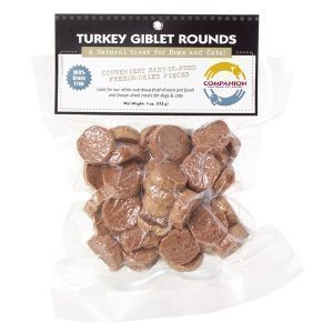 Fresh Is Best Freeze-Dried Raw Turkey Giblet Treats for Dogs and Cats, 3.5 oz