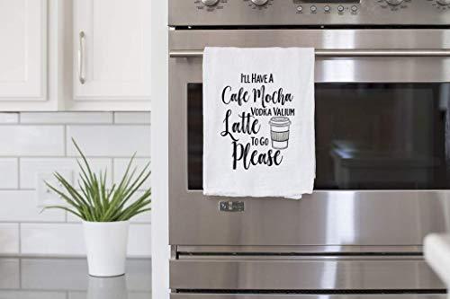 - Funny Dish Towel, Cafe Mocha Vodka Valium Latte Tea Towel