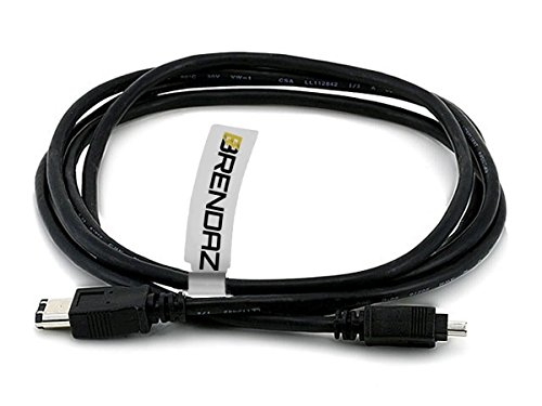 Canon Firewire Cable - BRENDAZ Firewire DV Cable 4P-6P for Canon GL1 and GL2 Mini DV Camcorder, and Canon ZR Series Camcorders, 6-feet
