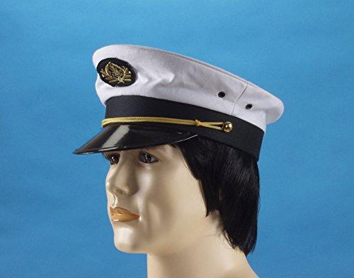 Loftus Men's Captains Hat, White, One Size